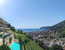 Beautiful Sea View Apartment, 1 bedroom, 1 bathroom on top floor, Liguria