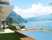 3 rooms in exclusive residence with breathtaking lake views €272.000