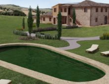 New built apartments in ancient 1600's farmhouse, Val d'Orcia, Tuscany