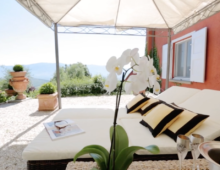 Luxury Villa near Florence; breathtaking views, olive grove, fruit tree gardens, swimmingpool, garage.